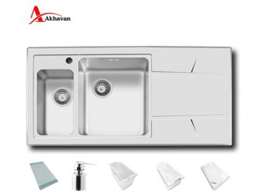سینک ظرفشویی اخوان توکار باکسی مدل 334 | فروشگاه مرکزی اخوان308
