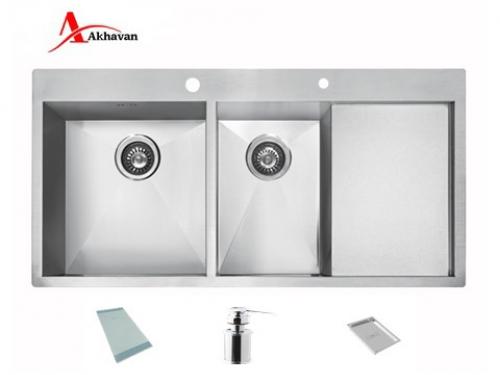 سینک ظرفشویی اخوان توکار باکسی مدل 334 | فروشگاه مرکزی اخوان354