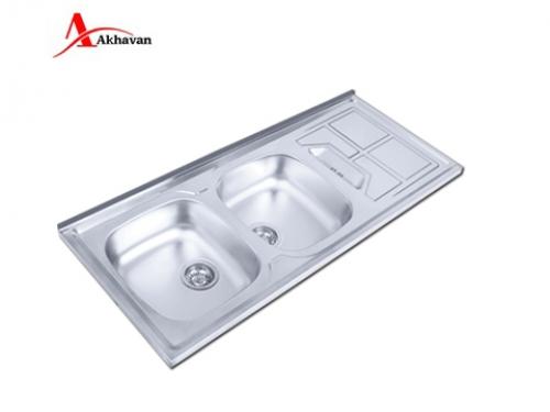 سینک ظرفشویی اخوان توکار باکسی مدل 302 | فروشگاه مرکزی اخوان153SP