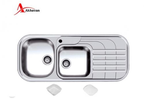 سینک ظرفشویی اخوان توکار باکسی مدل 302 | فروشگاه مرکزی اخوان72