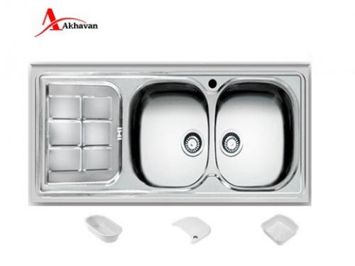 سینک ظرفشویی اخوان توکار باکسی مدل 302 | فروشگاه مرکزی اخوان148NEW