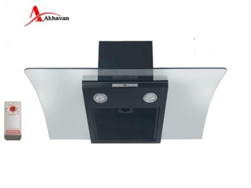 هود آشپزخانه اخوان  شومینه ای شیشه دودی و استیل مدل H36 | فروشگاه مرکزی اخوانH37