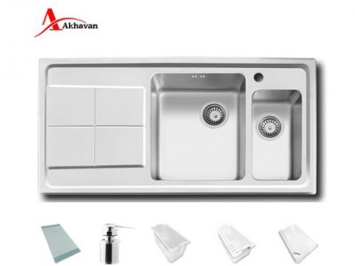 سینک ظرفشویی اخوان توکار باکسی مدل 334 | فروشگاه مرکزی اخوان306