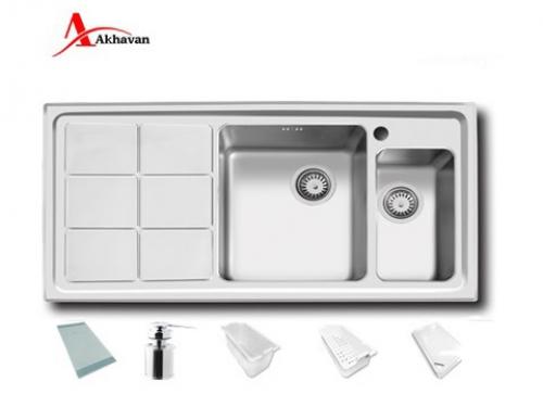 سینک ظرفشویی اخوان توکار باکسی مدل 334 | فروشگاه مرکزی اخوان310