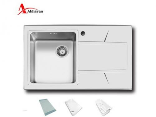 سینک ظرفشویی اخوان توکار باکسی مدل 308S | فروشگاه مرکزی اخوان314