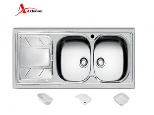 سینک ظرفشویی اخوان روکار فانتزی مدل 74 | سایت رسمی فروشگاه مرکزی اخوان جم149