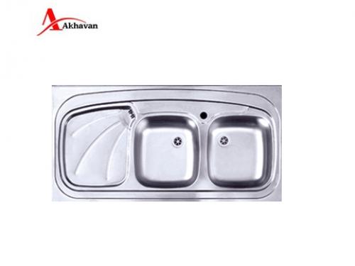سینک ظرفشویی اخوان توکار باکسی مدل 302 | فروشگاه مرکزی اخوان121