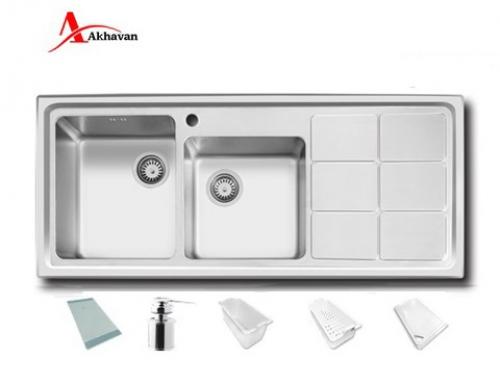 سینک ظرفشویی اخوان توکار باکسی مدل 334 | فروشگاه مرکزی اخوان304