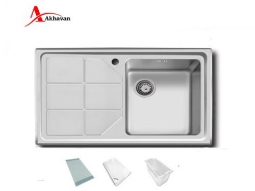 سینک ظرفشویی اخوان توکار باکسی مدل 334 | فروشگاه مرکزی اخوان316