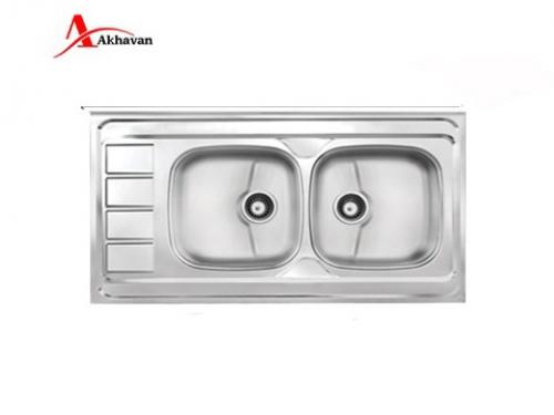 سینک ظرفشویی اخوان توکار باکسی مدل 302 | فروشگاه مرکزی اخوان163