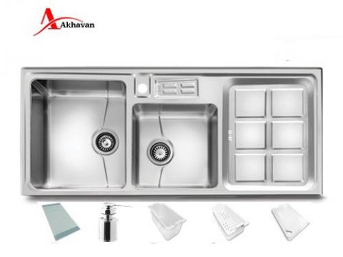 سینک ظرفشویی اخوان توکار باکسی مدل 302 | فروشگاه مرکزی اخوان320