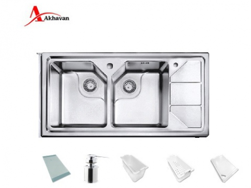سینک ظرفشویی اخوان توکار باکسی مدل 334 | فروشگاه مرکزی اخوان326