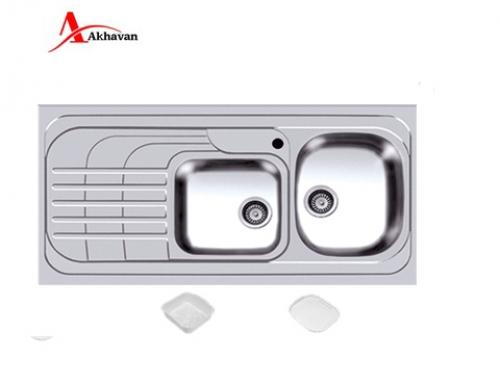 سینک ظرفشویی اخوان توکار باکسی مدل 302 | فروشگاه مرکزی اخوان74