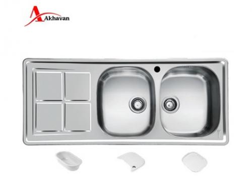 سینک ظرفشویی اخوان توکار باکسی مدل 302 | فروشگاه مرکزی اخوان159