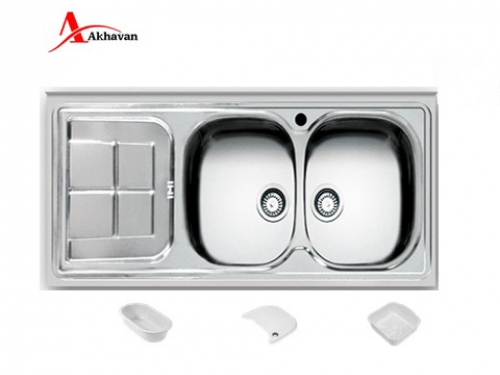 سینک ظرفشویی اخوان توکار باکسی مدل 302 | فروشگاه مرکزی اخوان146