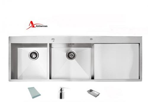 سینک ظرفشویی اخوان توکار باکسی مدل 334 | فروشگاه مرکزی اخوان346