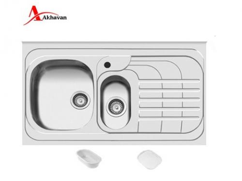 سینک ظرفشویی اخوان توکار باکسی مدل 308S | فروشگاه مرکزی اخوان75