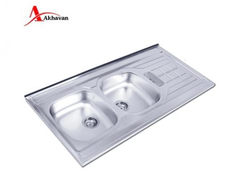 سینک ظرفشویی اخوان توکار باکسی مدل 302 | فروشگاه مرکزی اخوان150SP