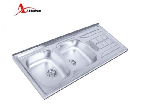 سینک ظرفشویی اخوان توکار باکسی مدل 302 | فروشگاه مرکزی اخوان151SP