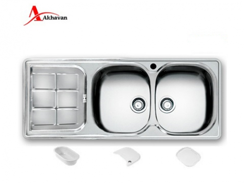سینک ظرفشویی اخوان توکار باکسی مدل 302 | فروشگاه مرکزی اخوان147NEW