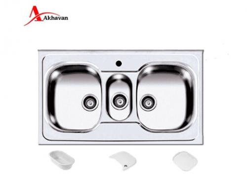 سینک ظرفشویی اخوان روکار فانتزی مدل 146 | سایت رسمی فروشگاه مرکزی اخوان جم29