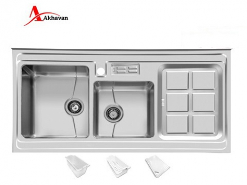 سینک ظرفشویی اخوان توکار باکسی مدل 302 | فروشگاه مرکزی اخوان320S